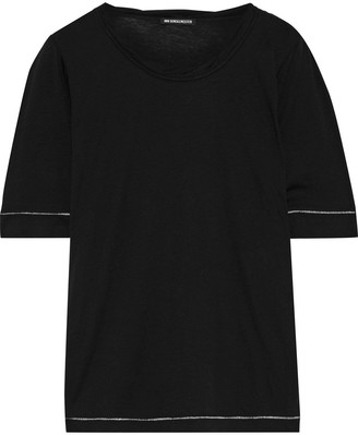 Ann Demeulemeester Embroidered Cotton And Silk-blend Jersey T-shirt