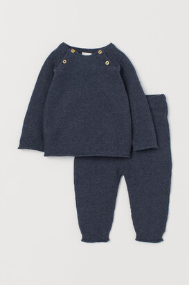 H&M Knit Sweater and Pants - Blue