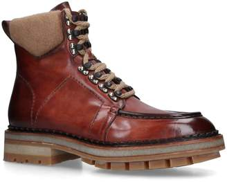 Santoni Leather Colin Hiker Boots