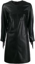 Pinko fringed faux-leather dress