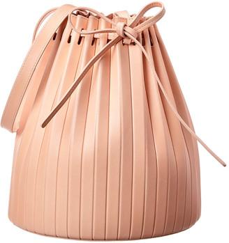 Mansur Gavriel Pleated Leather Bucket Bag