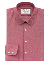 Thomas Pink Lincoln Texture Slim Fit Button Cuff Shirt