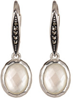 Judith Jack Sterling Silver Swarovski Marcasite & White Mother of Pearl Drop Earrings