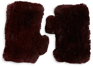 Surell Women's Dyed Rabbit Fur Fingerless Gloves
