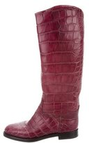 Gucci Alligator Knee-High Boots