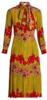 Gucci Iris and poppy-print silk dress