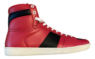 Saint Laurent SL/100H Red Leather Trainers