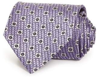 Ermenegildo Zegna Square Grid Silk Classic Tie