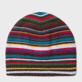 Paul Smith Men's Signature Stripe Wool-Blend Beanie Hat