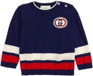Gucci Logo Patch Wool Sweater
