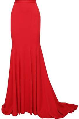 Brandon Maxwell Fluted Crepe Maxi Skirt