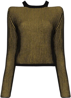 Eckhaus Latta Clavicle ribbed-knit sweater