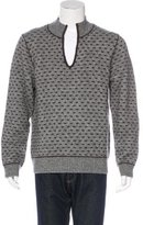 Billy Reid Wool-Blend V-Neck Sweater