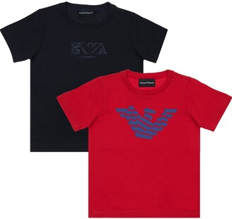 Emporio Armani Pack Of 2 Cotton Jersey T-Shirts