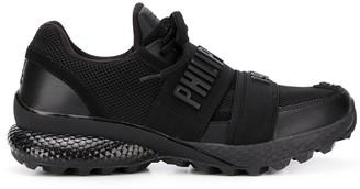 Philipp Plein Runner logo strap sneakers