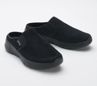 Skechers GOwalk Joy Water-Repellent Suede Clogs - Snuggly