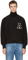 Ami Alexandre Mattiussi Black Logo Crewneck Sweatshirt