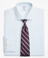 Brooks Brothers Stretch Regent Fitted Dress Shirt, Non-Iron Royal Oxford Small Windowpane