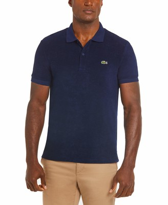 Lacoste Men's Short Sleeve Regular Fit Terry Cloth Polo Shirt