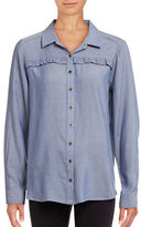 G.H. Bass & Co. Ruffle Chambray Shirt