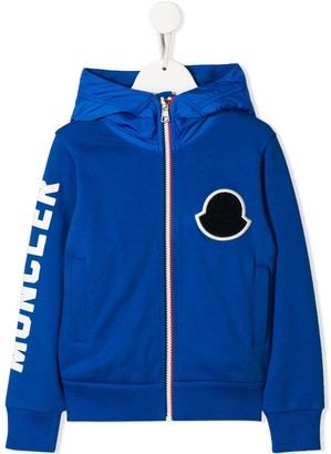 Moncler Enfant Zip-Up Hooded Jacket