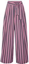 Tome Striped Cotton-poplin Wide-leg Pants - Pink