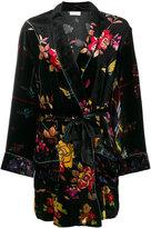 Pierre Louis Mascia Pierre-Louis Mascia - floral belted robe
