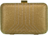 Whiting & Davis Gold Crystal Yves Minaudiere Box Clutch