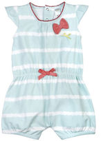 Petit Lem Baby Girls Delicate Striped Romper