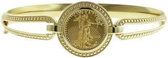 14K/22K Gold Large Lady Liberty Coin Bangle