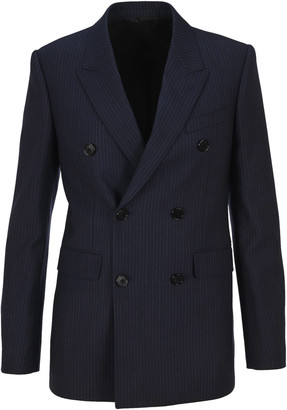 Celine Double Breasted Pinstriped Blazer