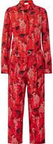 RED Valentino Printed Silk-crepe Jumpsuit