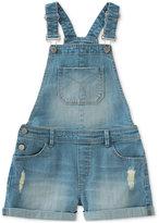 Calvin Klein Denim Overall Shorts, Big Girls (7-16)