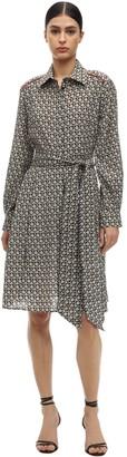 Salvatore Ferragamo Silk Crepe De Chine Shirt Dress