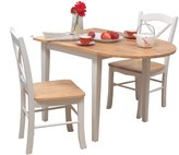 Tiffany & Co. Target Marketing Systems TMS 3pc Dining Set, White/Natural