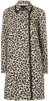 No.21 leopard print double-breasted coat