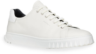 Salvatore Ferragamo Men's Leather Low-Top Sneakers