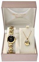 Sekonda Women's Quartz Watch with Black Dial Analogue Display and Gold Alloy Bracelet 4011G.49