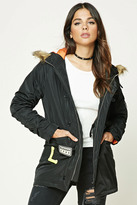 Forever 21 FOREVER 21+ Tiger Patch Hooded Jacket
