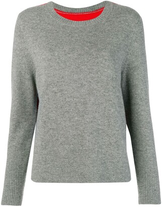 Parker Chinti & contrast back panel sweater