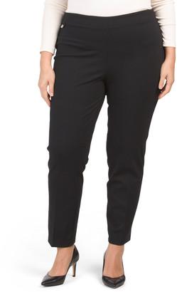 Plus Pull On Comfort Compression Ponte Pants