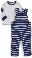 Little Me Infant Boy's Car T-Shirt & Overalls Set