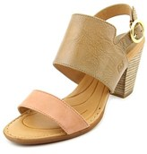 Børn Cindie Women Open Toe Leather Tan Sandals.