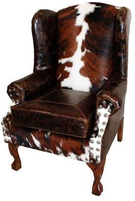 "Great Blue Heron ""Santa Fe"" Wing Back Chair"