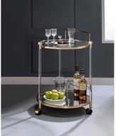 ACME Furniture 98199 Todd Clear Glass and Gold Serving Cart