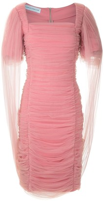 Gloria Coelho Draped Tulle Dress