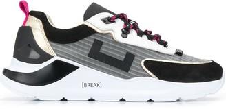 D.A.T.E multi-panel platform sneakers