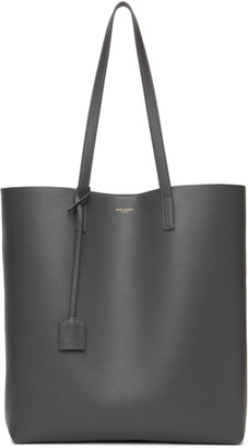 Saint Laurent Grey North/South Shopping Tote