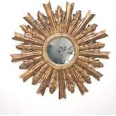 Worlds Away Handcarved Starburst Antique-Style Mirror