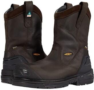 Keen CSA Philadelphia Wellington Waterproof (Carbon-fiber Toe) (Cascade Brown/Black) Men's Shoes